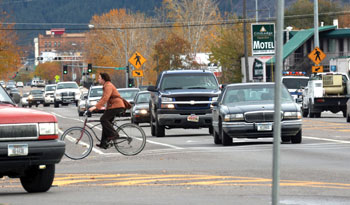 West Broadway Toole Bicycle Intersection