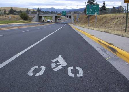 Great Bike Lane Heading into Rattlesnake Valley