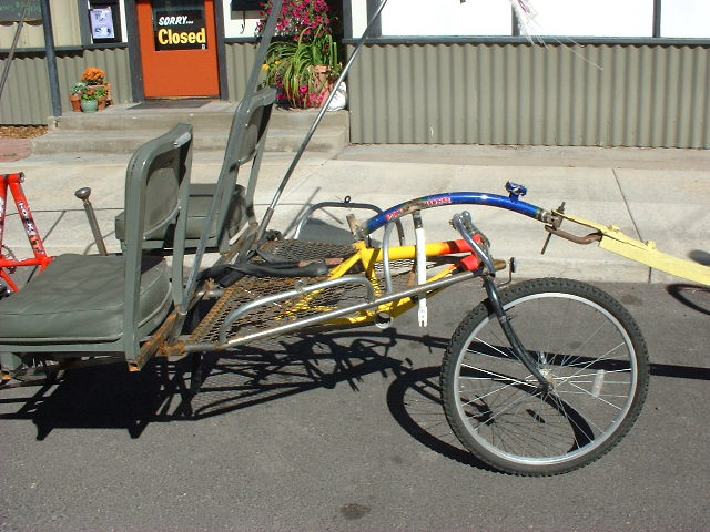 2 seater 3 wheeler with hitch and rear wheel