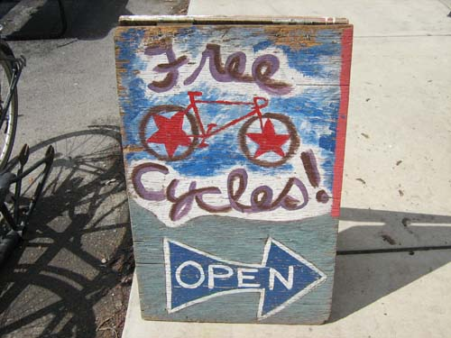 Free Cycles is open
