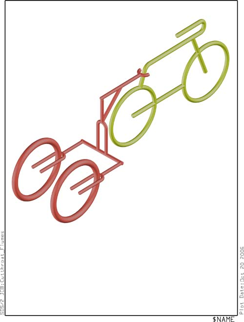 A basic cad drawing for bike trailer from volunteer Kurt