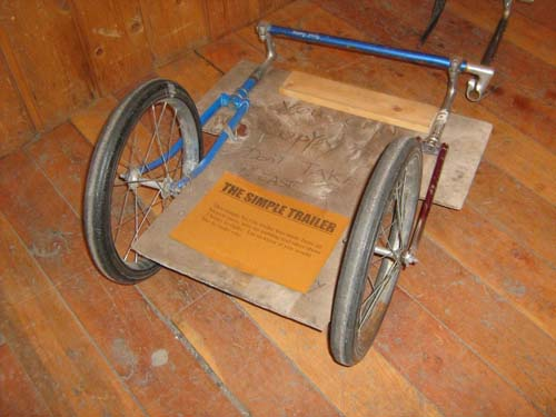 Bicycle Trailer from Bike Parts